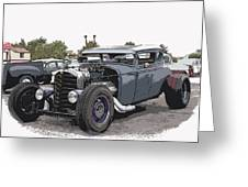 Custom Model A Coupe Greeting Card