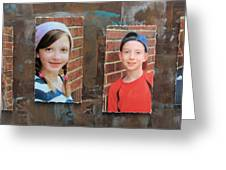 Custom Photo Portrait Group Greeting Card
