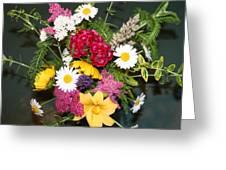 Cut Flowers Greeting Card