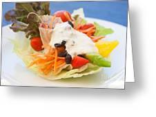 Cute Salad Greeting Card by Atiketta Sangasaeng