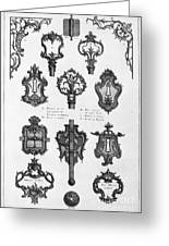 Cuvilli�s: Locks And Keys Greeting Card