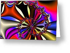 Cyclone Of Color Greeting Card