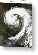 Cyclone Over Lake Michigan Greeting Card