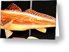 Cypress Red Fish Greeting Card by Douglas Snider