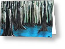 Cypress Spring Greeting Card by Holly Donohoe