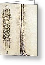 Da Vinci's Underwater Breathing Apparatus Greeting Card by Sheila Terry