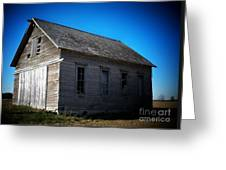 Daddys Old School House Greeting Card