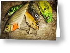 Dad's Fishing Crankbaits Greeting Card