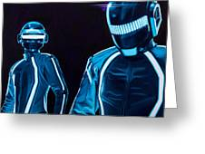Daft Punk Greeting Card by Ellen Patton