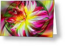 Dahlia Flower Energy Greeting Card