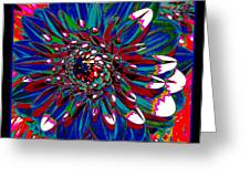 Dahlia With Intense Primaries Effect Greeting Card
