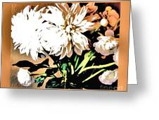 Dahlias Abstract Greeting Card