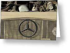 Daimler-benz A-g Hood Emblem Greeting Card