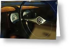 Daimler Steering Wheel Greeting Card