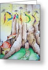 Daisy Fairy Illustration Greeting Card