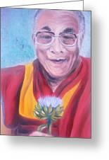 Dalai Lama-peace And Harmony Greeting Card