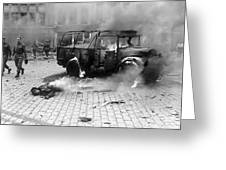 Damage Done By A V-2 Rocket In Antwerp Greeting Card