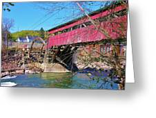 Damaged Covered Bridge Greeting Card