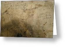 Damaged Surface Iv Greeting Card