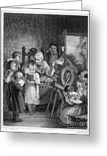 Dames School, 1812 Greeting Card by Granger