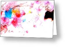 Dance Of Colors Greeting Card