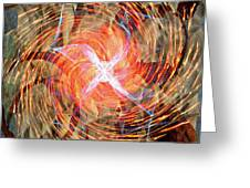Dance Of Fires  Greeting Card by Jerry Cordeiro