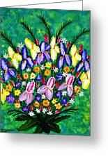 Dance Of The Flowers Greeting Card