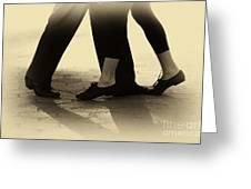 Dance Practice Greeting Card by Leslie Leda