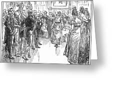 Dance: Virginia Reel C1800 Greeting Card by Granger