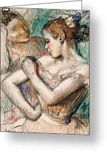Dancer Greeting Card by Edgar Degas