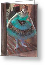Dancer Leaving Her Dressing Room Greeting Card
