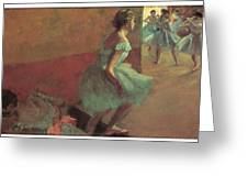 Dancers Climbing A Stair Greeting Card by Edgar Degas