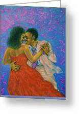 Dancers Greeting Card by Terry Jackson