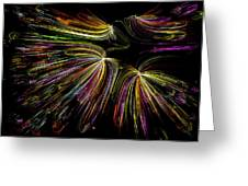 Dancing Colors Greeting Card by Joshua Dwyer