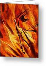 Dancing Fire Vi Greeting Card