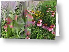 Dancing Girl In Flowers Greeting Card
