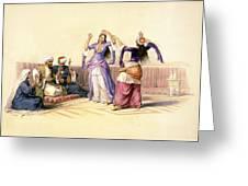 Dancing Girls At Cairo Greeting Card