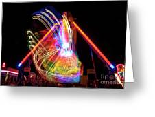 Dancing Lights  Magical Light Trails Greeting Card