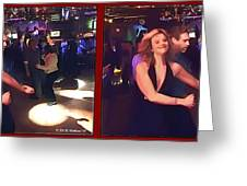 Dancing New Years Eve - Gently Cross Your Eyes And Focus On The Middle Image Greeting Card