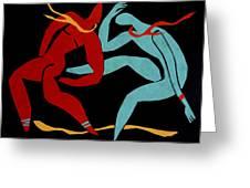 Dancing Scissors 21 Greeting Card