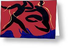 Dancing Scissors 24 Greeting Card