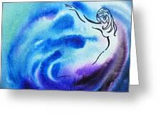 Dancing Water I Greeting Card