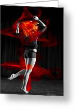 Dancing With My Hair On Fire Greeting Card