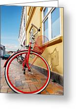 Danish Bike Greeting Card by Robert Lacy