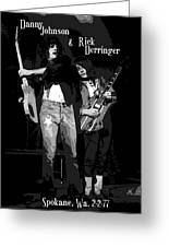 D J And R D In Spokane 1977 Greeting Card