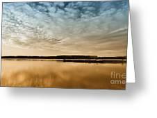 Danube River-sunset Greeting Card