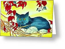 Dark Cat Greeting Card