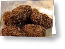 Dark Chocolate Almonds Greeting Card