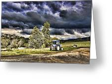 Dark Clouds Over The Farm Greeting Card