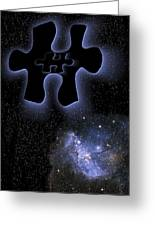 Dark Matter, Conceptual Artwork Greeting Card